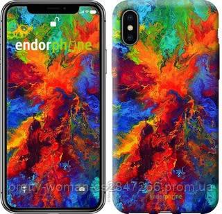 """Чехол на iPhone XS Акварель на холсте """"4150c-1583-19414"""""""