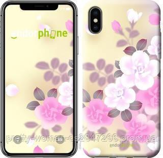 """Чехол на iPhone XS Японские цветы """"2240c-1583-19414"""""""