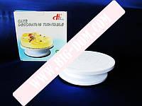 Стойка для торта пластм О27,5см на силикон.дномVT6-19015