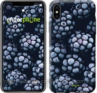 "Чехол на iPhone X Морозная ежевика ""2744c-1050-19414"""