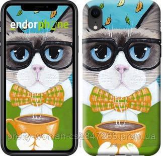 """Чехол на iPhone XR Cat&Coffee """"4053c-1560-19414"""""""