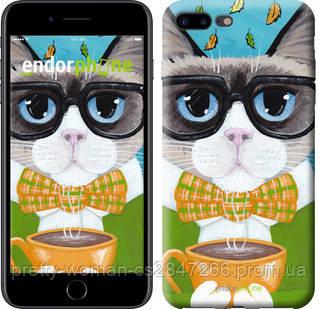 "Чехол на iPhone 8 Plus Cat&Coffee ""4053c-1032-19414"""