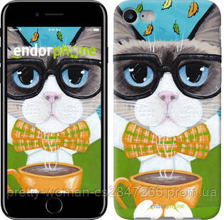 "Чехол на iPhone 7 Cat&Coffee ""4053c-336-19414"""