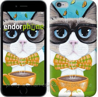 "Чехол на iPhone 6 Plus Cat&Coffee ""4053c-48-19414"""