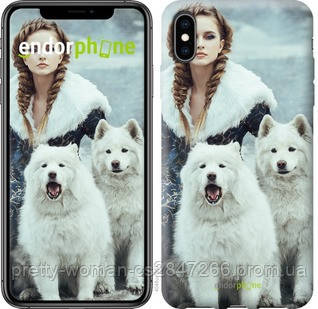 "Чехол на iPhone XS Max Winter princess ""4048c-1557-19414"""