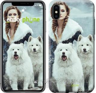 "Чехол на iPhone X Winter princess ""4048c-1050-19414"""