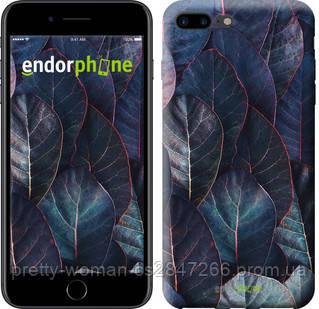 "Чехол на iPhone 7 Plus Листья v3 ""3328c-337-19414"""