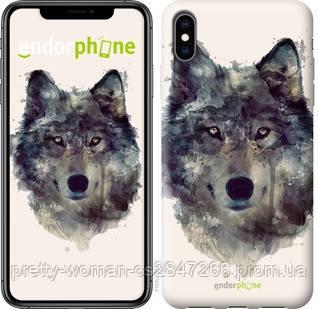 """Чехол на iPhone XS Max Волк-арт """"4163c-1557-19414"""""""