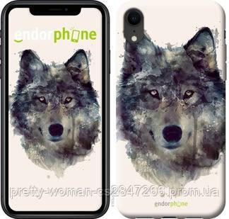 """Чехол на iPhone XR Волк-арт """"4163c-1560-19414"""""""