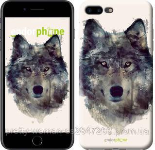 "Чехол на iPhone 8 Plus Волк-арт ""4163c-1032-19414"""