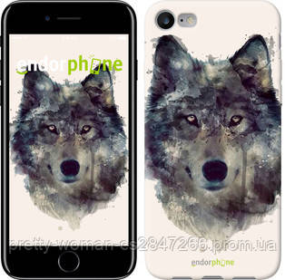 "Чехол на iPhone 7 Волк-арт ""4163c-336-19414"""