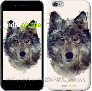 "Чехол на iPhone 6s Plus Волк-арт ""4163c-91-19414"""
