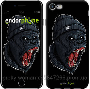 """Чехол на iPhone 8 Обезьяна в яросте """"4137c-1031-19414"""""""