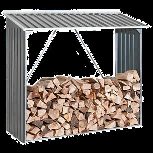 Накрытие для дров металлическое серый с белым, фото 2