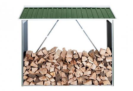 Накрытие для дров металлическое зеленый с белым, фото 2