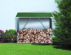 Накрытие для дров металлическое зеленый с белым, фото 3
