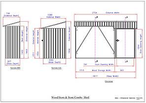 Накрытие для дров металлическое с сараем антрацит с белым, фото 2