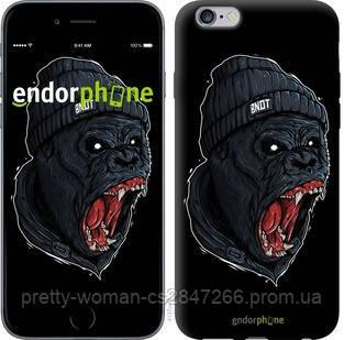 """Чехол на iPhone 6 Plus Обезьяна в яросте """"4137c-48-19414"""""""