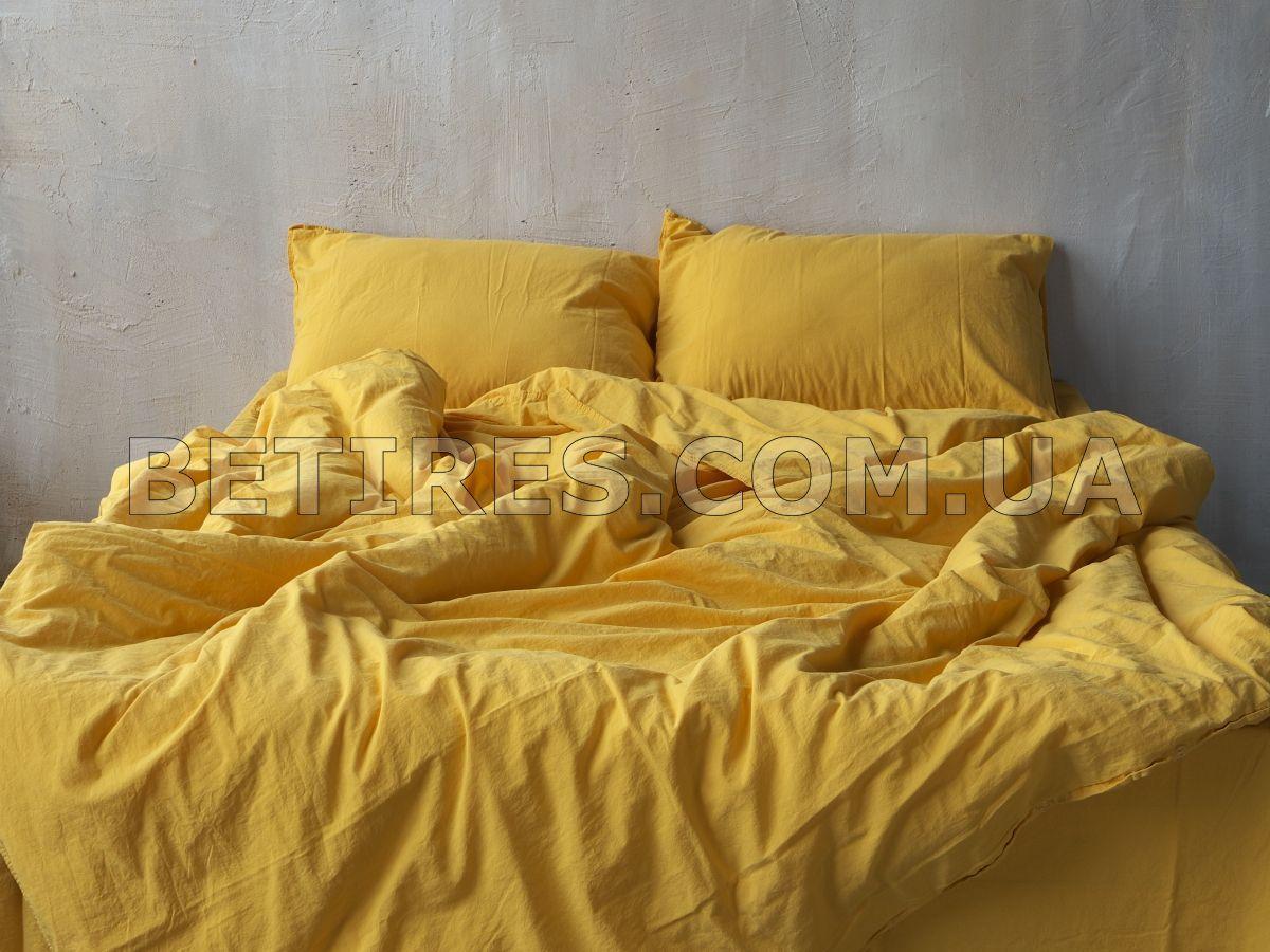 Комплект постільної білизни СІМЕЙНИЙ LIMASSO LIMONADE STANDART жовтий