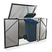 Бокс для мусорных контейнеров серый с белым, фото 2