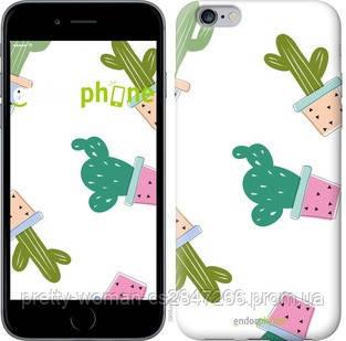 """Чехол на iPhone 6 Plus Кактусы в горшочках """"3968c-48-19414"""""""