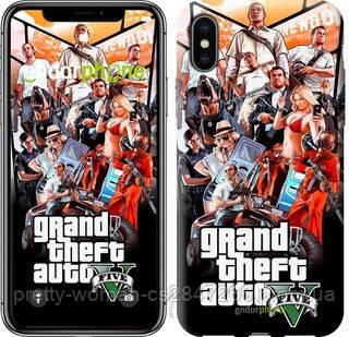 "Чехол на iPhone XS GTA 5. Collage v2 ""2815c-1583-19414"""