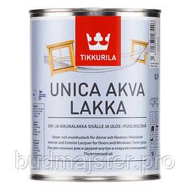 Лак Tikkurila Уніка аква лаккі, 0,9 л