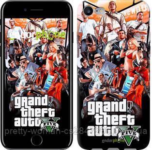 "Чехол на iPhone 7 GTA 5. Collage v2 ""2815c-336-19414"""