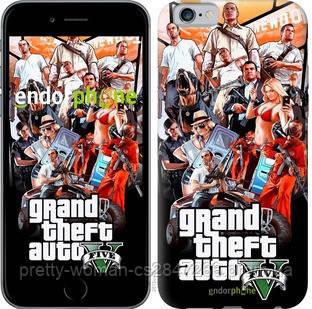 "Чехол на iPhone 6 GTA 5. Collage v2 ""2815c-45-19414"""