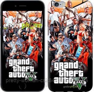 "Чехол на iPhone 6s Plus GTA 5. Collage v2 ""2815c-91-19414"""