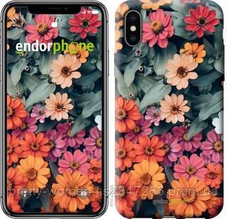 """Чехол на iPhone XS Beauty flowers """"4050c-1583-19414"""""""