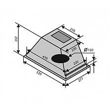 Кухонна витяжка VENTOLUX PUNTO 60 (750) PB, фото 3