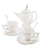 """Фарфоровый Чайный набор """"Морская ракушка"""" на 2 персоны (Pavone)"""