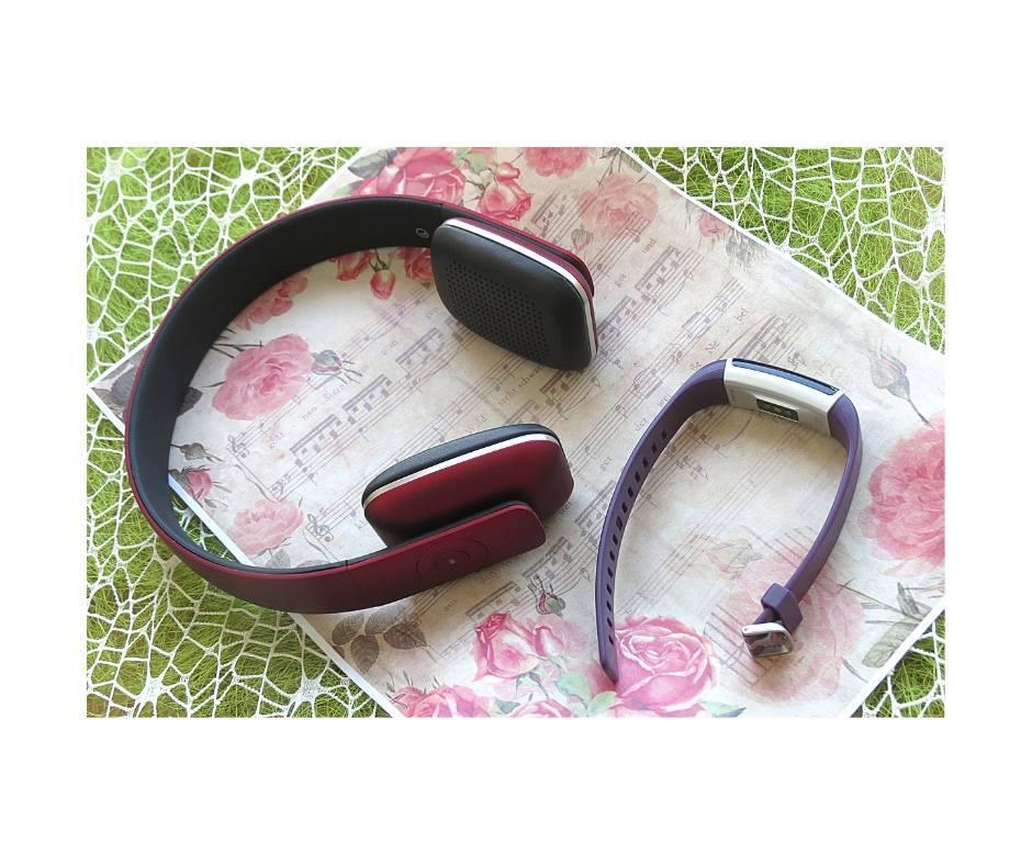 Фитнес-браслет Toobur id130 plus фиолетовый + Гарнитура AUGUST EP636R Bluetooth