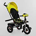 Трехколесный велосипед Best Trike 6088 F желтый усиленная рама поворот сидения надувные колеса музыка и свет, фото 4
