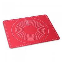 Термостойкий силиконовый коврик 50*40 см для раскатки теста Kamille 7743, фото 1
