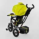 Трехколесный велосипед Best Trike 6088 F желтый усиленная рама поворот сидения надувные колеса музыка и свет, фото 5