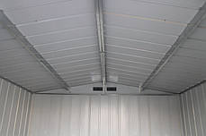 Сарай металлический ECO 320x302x196 см серый с белым, фото 3