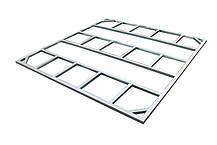 Сарай металлический ECO 320x302x196 см серый с белым, фото 2