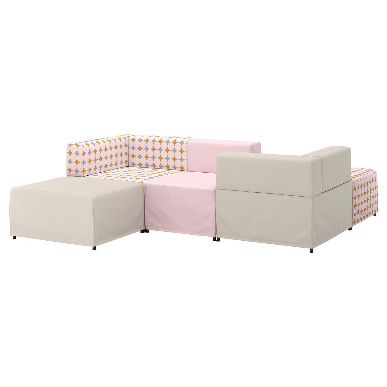 IKEA KUNGSHAMN (192.750.80) 3-местный модульный диван, Idekulla meringue