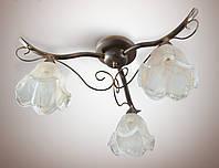 Люстра классическая для спальни, кухни, небольшой комнаты, 3-х ламповая