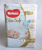 Подгузники Huggies Elite Soft Newborn 2 (4-6 кг), 66 шт.