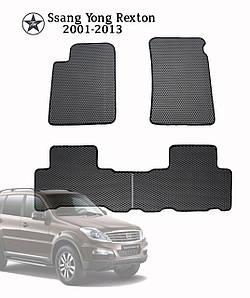 Коврики полимерные в салон SSANG YONG Rexton 2001-2013 (4 шт) материал EVА