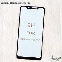 Защитное стекло Full Glue для Xiaomi Redmi Note 6 Pro (black) (загнутые углы, полный клей (5D))
