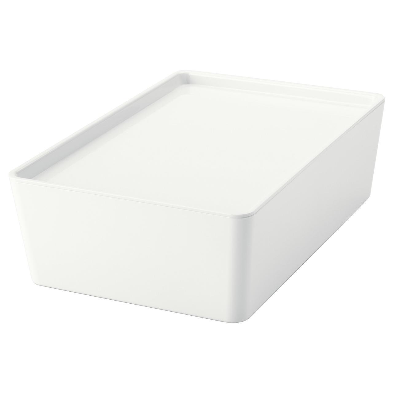 IKEA KUGGIS (202.802.07) Коробка с крышкой, белая