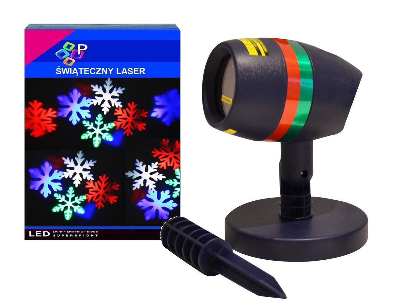 Лазерний проектор сніжинки
