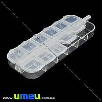 Органайзер для хранения бисера на 12 ячеек, 13х5 cм, 1 шт (INS-011663)