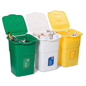 Набор мусорных баков для сортировки мусора ECO 3, фото 2