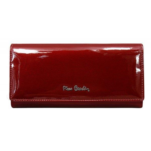 Жіночий гаманець Pierre Cardin бордовий лак. Новинка 2020