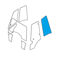 Новое стекла для экскаватора-погрузчика JCB 3CX, 4CX